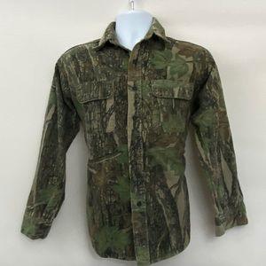 Men's Winchester Vintage Camo Shirt Size M X-35